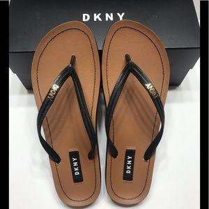 NEW DKNY Women's Madi Flip Flop Sandals Black 8